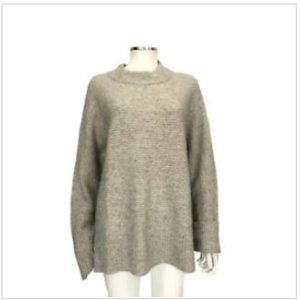 Rachel Zoe Cashmere Ribbed Mock Neck Sweater